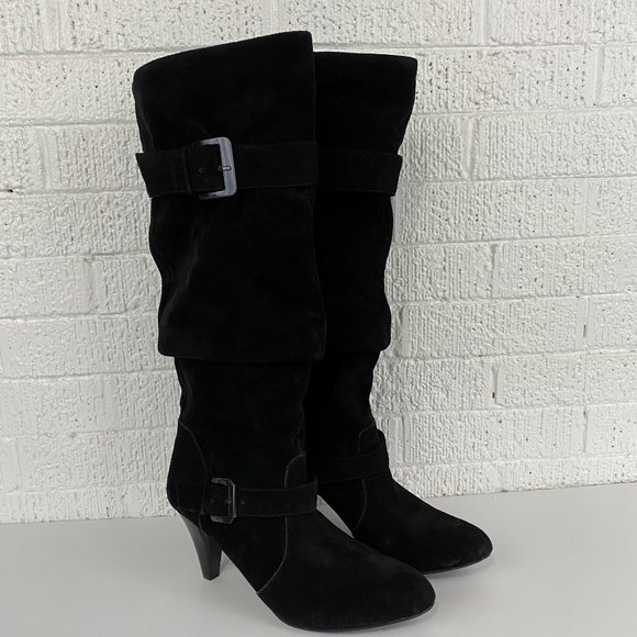 Gianni Bini Shoes | Black Suede Pull On